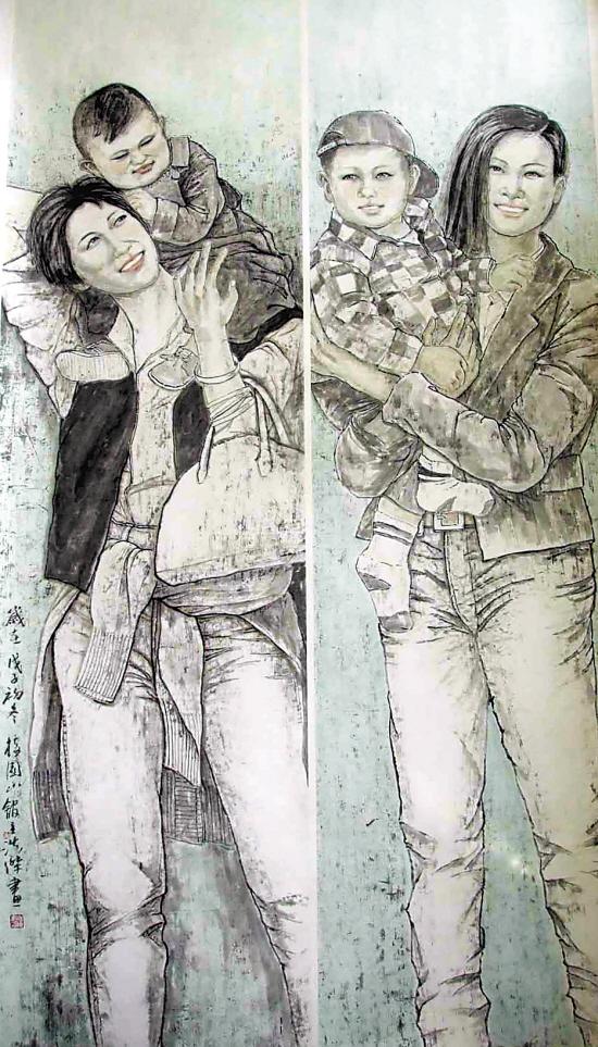 浙江中国人物画联展作品 - 静涛 - JINGTAOS   BLOG