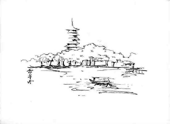 王玲娟 行走西湖图片