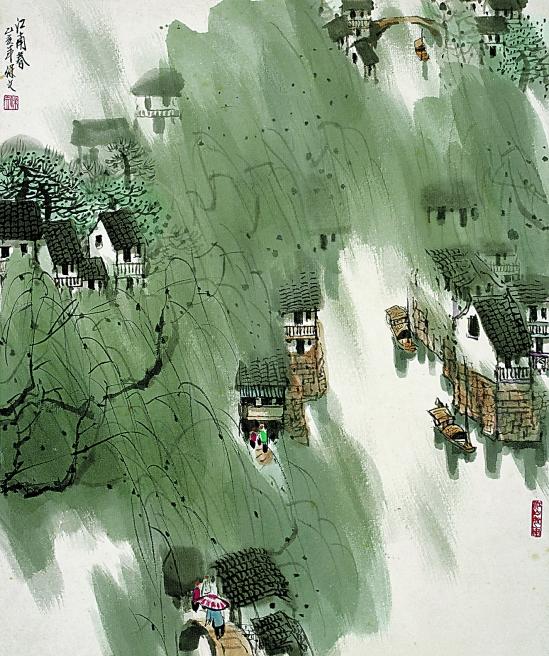 范保文山水画作品(中国山水画艺术网)