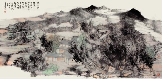 王贵华 雨后空林生白烟 山中处处有流泉 68×136cm图片