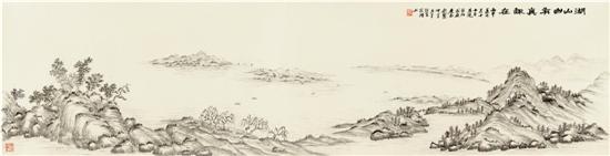 王宏理 西湖山水画图片